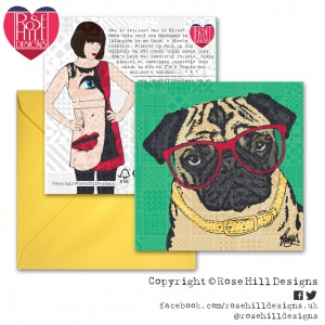 Design Essentials Dogs Greetings Card - Pug