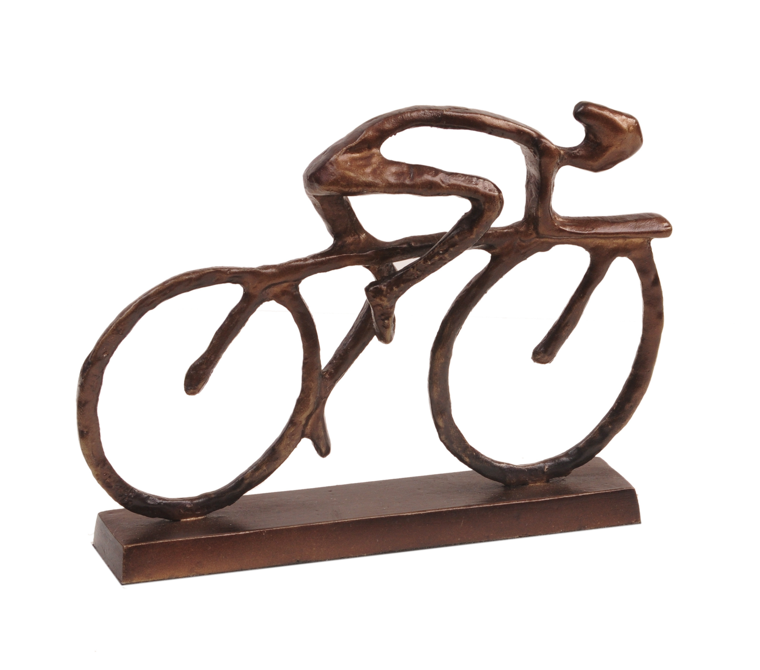 Cyclist Sculpture with Antique Bronze Finish - Design ...