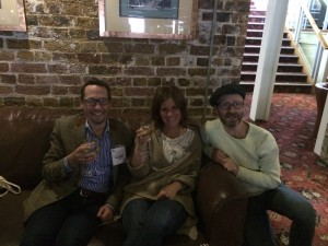 Simon Vaughan and Richard Fearney of Harlequin Display with Wendy Howell, Design Essentials at May Design Series 2015