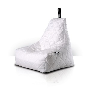 MightyB Quilted Outdoor Bean Bag White