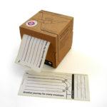 Blue Marmalade Envelope Angel Underground Labels Dispenser | Design Essentials