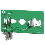 Blue Marmalade Remember Me Key Hooks Green | Design Essentials