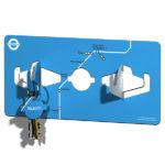 Blue Marmalade Remember Me Key Hooks Blue | Design Essentials
