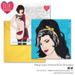 Design Essentials Portraits Greetings Card - Amy