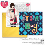 Design Essentials Typography Greetings Card - It's A Boy