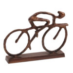 Cyclist with Antique Bronze Finish by Libra | Design Essentials