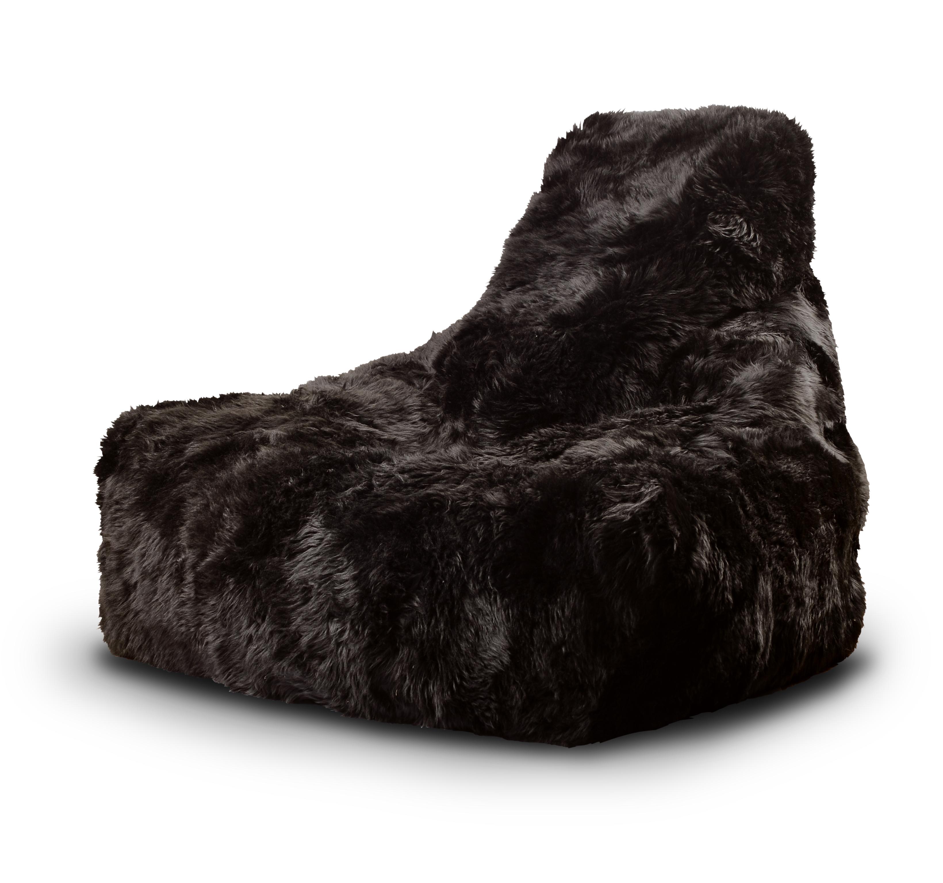 MightyB Sheepskin Fur Bean Bag Brown Design Essentials
