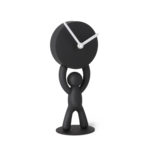 design essentials black buddy clock from umbra