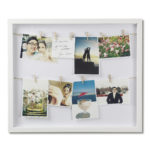 design essentials clothesline photo display white by umbra