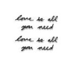 design essentials all you need is love love is all you need wall decor in black from umbra