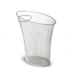 design essentials skinny metal trash can from umbra