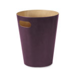 design essentials woodrow trash can in aubergine