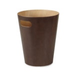design essentials woodrow trash can in espresso