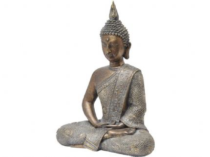 Libra Aged Bronze Buddha from Design Essentials