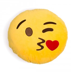 Emoji Cushion Wink Kiss Face from Design Essentials