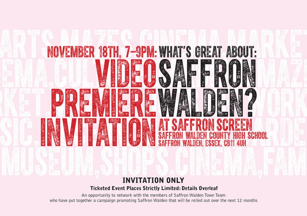 What's Great About Saffron Walden? Video Premier Invitation