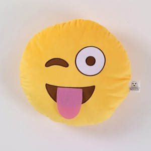 emoji movie mad cushion tongue