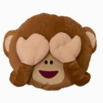 See No Evil Monkey Emoji Cusion