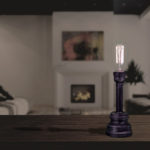 Tall Thin Vintage Table Lamp