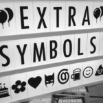 Extra symbols pack compatible with your black and white cinematic lightbox from Design Essentials, Saffron Walden