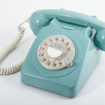 GPO Retro rotary phone in light blue from Design Essentials