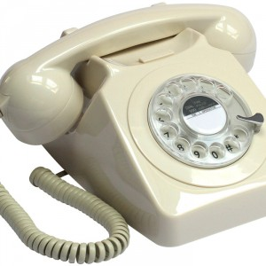 Ivory push-buton retro style phone from Design Essentials