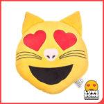 Love cat emoji cushion available at Design Essentials, Saffron Walden