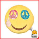 Emoji cushion with peace eyes available at Design Essentials