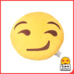 Smirk face emoji cushion from Design Essentials