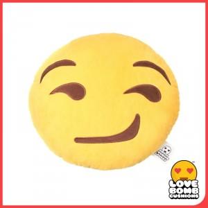 Smirk face emoji cushion from Design Essentials