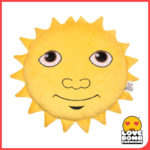 Smiley sunshine emoji cushion from Design Essentials, Saffron Walden