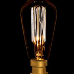 Vintage style squirrel cage bulb with bayonet fitting from Design Essentials