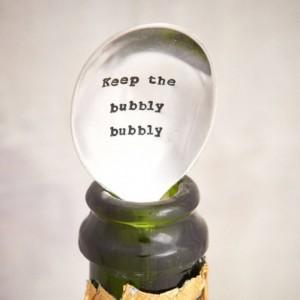 'Keep The Bubbly Bubbly' teaspoon