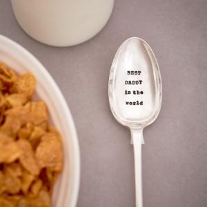 'Best daddy in the world' dessert spoon