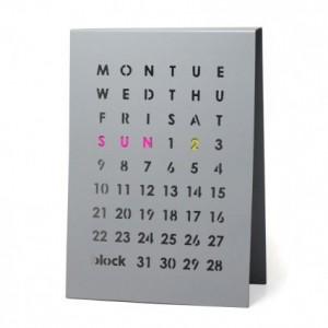 Block Calendar Grey