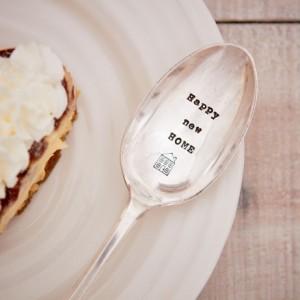 Happy New Home Dessert Spoon