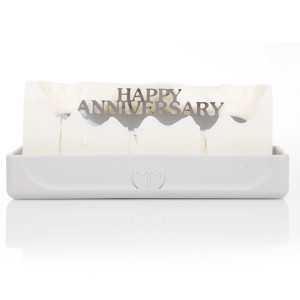 Melting Messages Happy Anniversary Candle