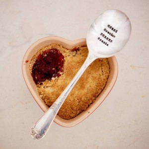 Merci, Gracias, Thanks, Danke, Grazie Dessert Spoon