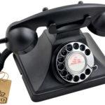 Rotary Telephone GPO 200 in black