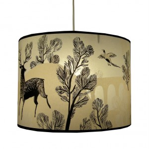 Stag Lampshade in Taupe