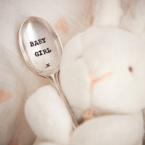 baby girl teaspoon