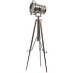 Charlie copper and satin grey tripod from Design Essentials, Saffron Walden
