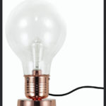 Vintage copper table lamp with vintage style bulb from Design Essentials