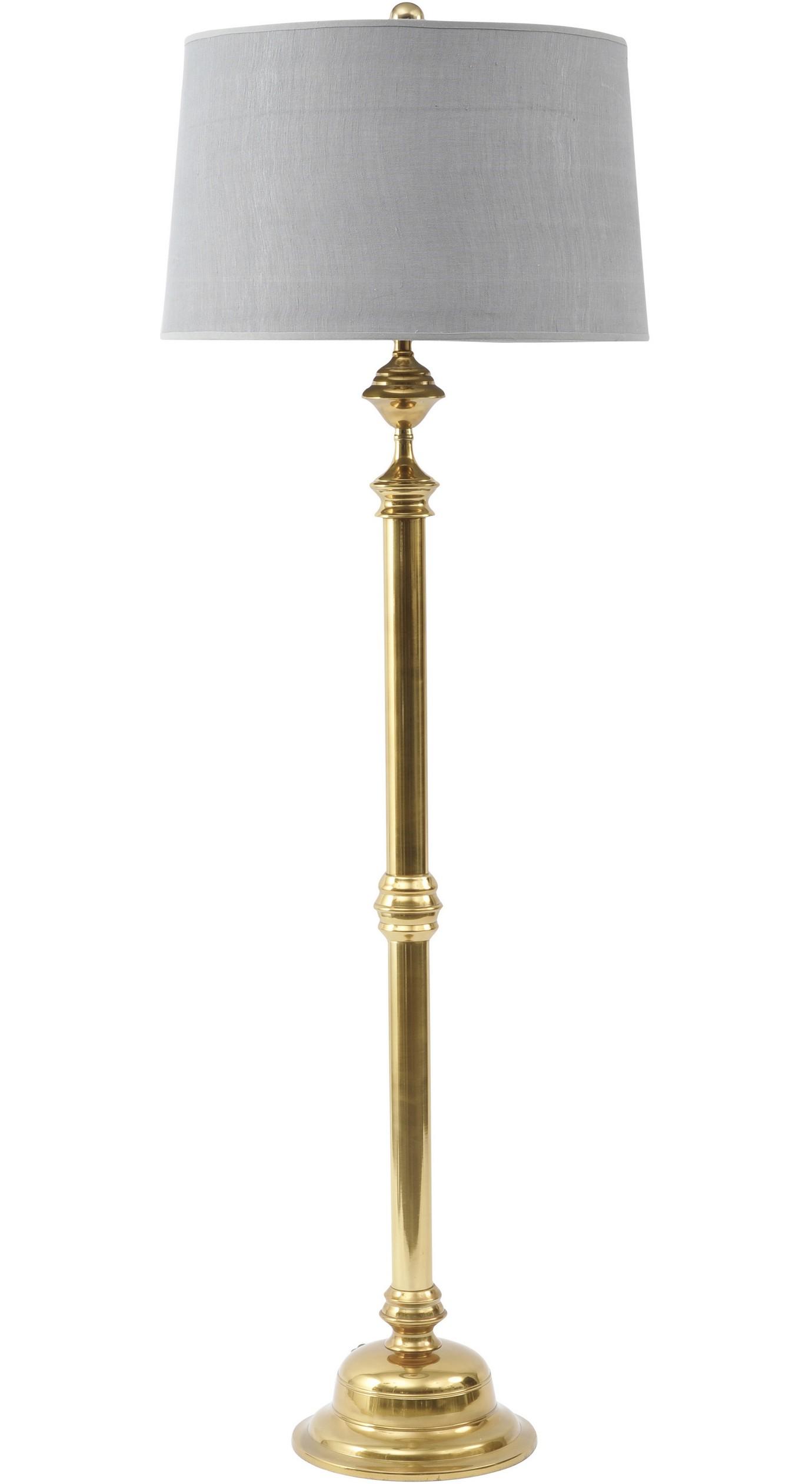 Studley brass floor lamp design essentials for Reeded brass floor lamp