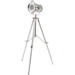 Chrome tripod spotlight from Design Essentials, Saffron Walden