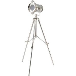 Chrome tripod spotlight from Design Essentials, Saffron Walden
