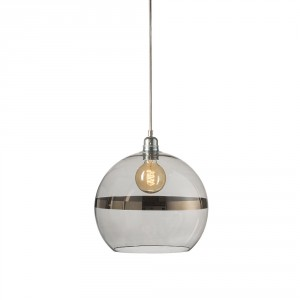 Large Copper Stripe Rowan Pendant Light