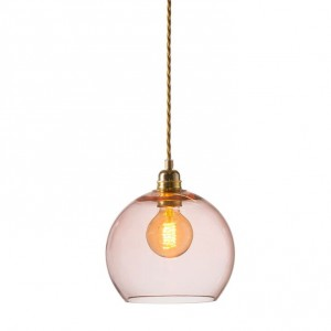 Medium Bright Coral Rowan Pendant Light
