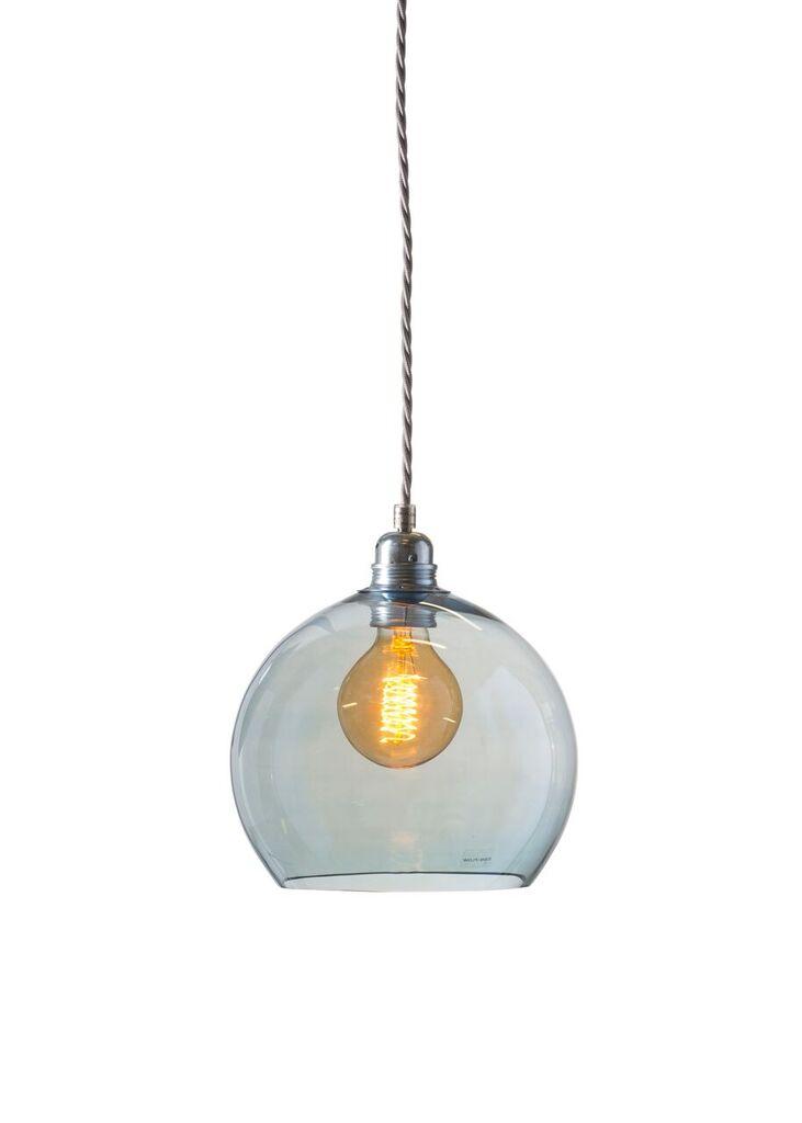 small topaz blue rowan pendant light