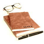 Personalised leather notebook made in leather - perfect for graduation or Father's Day